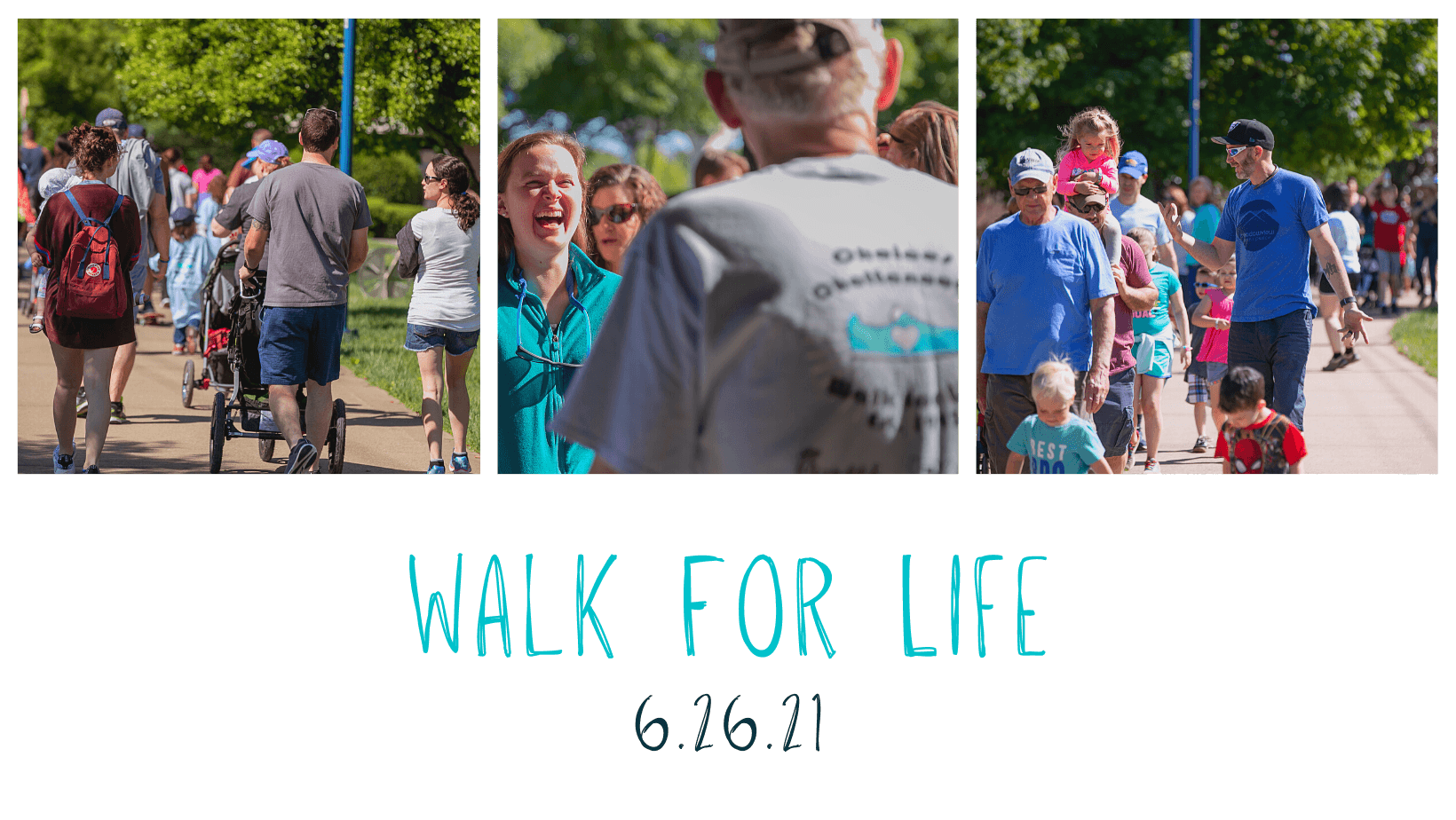 Collage of attendees at Choices Walk for Life